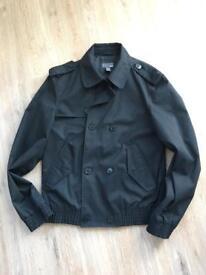 Trench coat style coat black size 48 (38 UK)