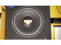 JBL 1000 watt GT4 Series bass box.