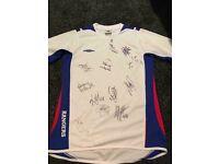 Rangers Training Shirt Signed