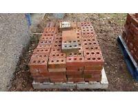 Red rustic distressed belfast paving bricks