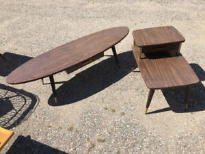 Retro style coffee table with two matching end tables