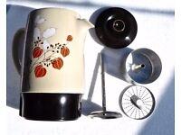 RUSSELL HOBBS CP3 CERAMIC VINTAGE ELECTRIC COFFEE PERCOLATOR RETRO FLORAL