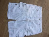 Ladies white shorts by NEXT size 16