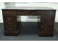 Large Antique Style Desk with drawers