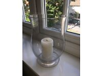Hurricane glass curve candle holders