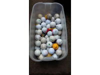 JOB LOT 100 ASSORTED GOLF BALLS