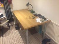 Ikea beech effect desk