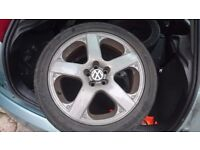 vw wheels 17 inch, fit t4, tyres all ok only £120ono