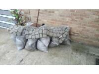 Bags of garden rubble