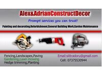 Alex&AdrianConstructDecor prompt services you can trust!