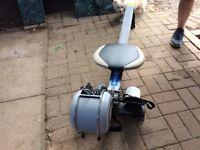 Rowing machine and bike trainer