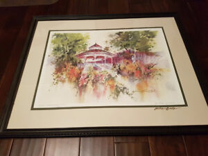 Signed William Biddle Limited Print Painting Sealed with a Kiss