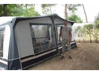 Blue Dorema Caravan Awning with two annex bedrooms, size 10, 882
