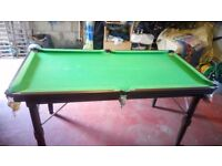 Snooker table, 6x3feet. £20 GOODCONDITION