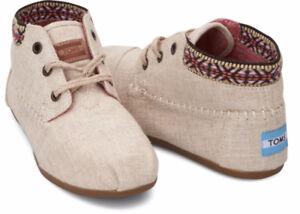 Natural Burlap Trim Womens Tribal Boots sz 8.5 good condition