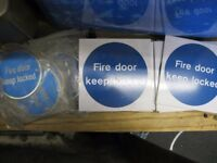 Fire Door Keep Locked Signs Few Different Shapes to Choose From. £2 Each.