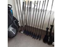 Full set of golf clubs