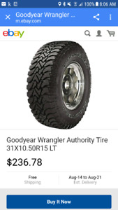 1 NEW GOOD YEAR WRANGLER M&S TIRE