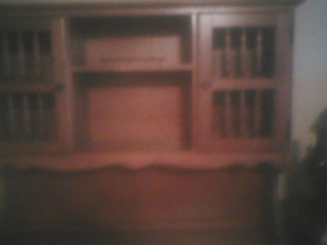 Apartment size china cabinet and buffet/side board