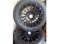 Calibre 15 inch multyfit alloys with 185/65/15 tyres x
