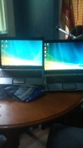 Two black hp laptops up for sale