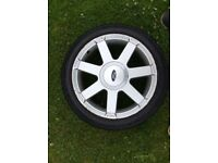 Ford Fiesta 16 inch alloy wheel with new tyre
