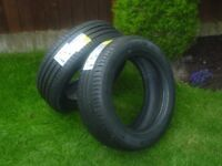 Pair of brand new Michelin 205/55 R16 91V car tyres
