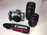 Canon EOS 300V Rebel TI SLR Camera with 75 - 300mm + 28 - 105mm lenses