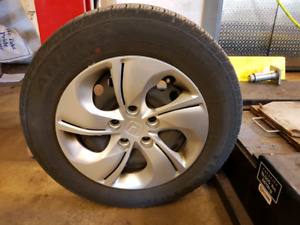 Honda Civic Set of 4 Tires on Rims with Wheel Covers
