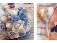 Wedding Bouquet and buttonhole beach themed