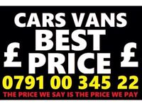 07910034522 SELL YOUR CAR 4x4 FOR CASH BUY MY SCRAP MOTORCYCLE X