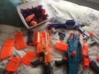 Job lot of nerf guns