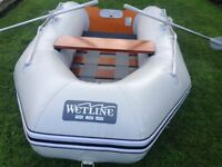 Wetline 265 inflatable dingy used twice, as new.
