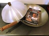 Ken Hom Steel Wok & Cookery Book NEW!