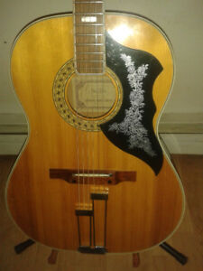 beautiful Simpson Sears Silvertone acoustic guitar