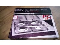 Stainless steel gas hob in box