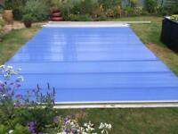 Polycarbonate roofing.