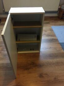Ikea white wooden bathroom cupboard