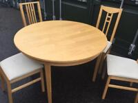 Dining table + chairs, reduced for quick sale