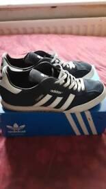 Adidas samba size10 blue suede