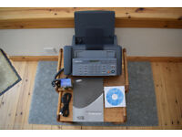 SAMSUNG SF-360 plain paper FAX and telephone answer machine, spare ink cartridge, full instructions.