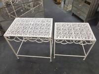 Metal nest of tables garden furniture