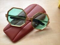 Correna Hexagon green lenses glasses - RARE VINTAGE 60's pair