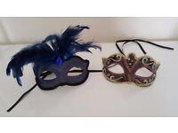 Fancy dress/ home decor - 2 x Masquerade Masks * £1 FOR BOTH *