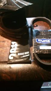 Polaris new belt & onwers manual & xl helmet