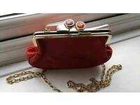 Ted baker clutch bag with removable chain.