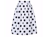 Retro Polka Dot Puff Skirts