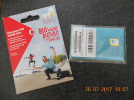 2 x £10 sim cards ( EE and O2 )