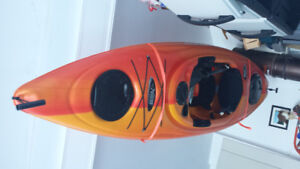 Two Pelican Odyssey 10ft kayaks with roof racks
