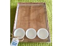Solid Oak Serving Board & Bowl Set (BNIB)